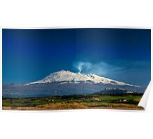 Mt. Etna from Ponte Barca Poster