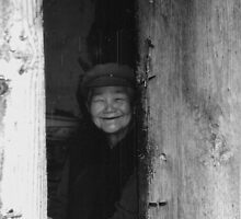 Old women in China black white photo by hagitby