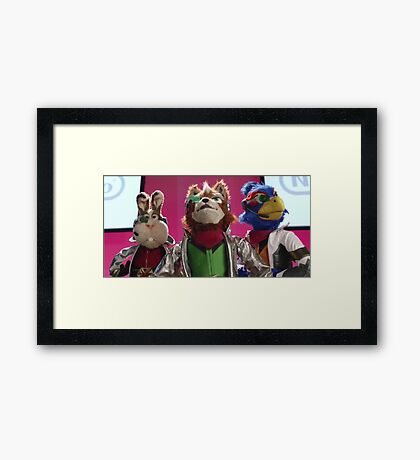 Star Fox Muppets Framed Print