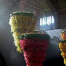 floral chandeliers, Melbourne International Flower Show by BronReid