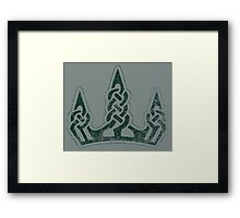 Skyrim Distressed Winterhold Logo Framed Print