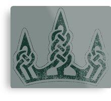 Skyrim Distressed Winterhold Logo Metal Print