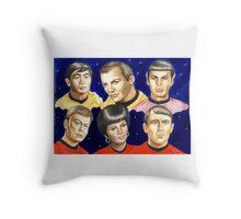 To boldly go......Star Trek.....the originals Throw Pillow