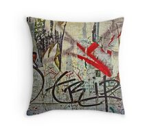 Red Ribbon Message Throw Pillow