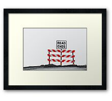 The End of The Road Framed Print