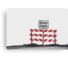 The End of The Road Canvas Print