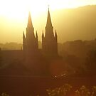 St Peter's Cathedral, North Adelaide, sunrise by BronReid