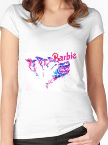 Barbie Pup Women's Fitted Scoop T-Shirt