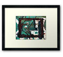 """Train Art~ """"Moon-Lit  Computer Duck"""" Framed Print"""