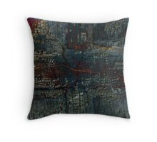 Turquoise & Red I Throw Pillow