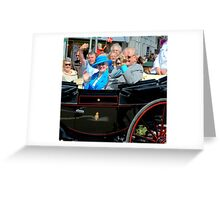 A Royal wave Greeting Card