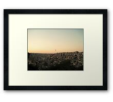 Among the Seven Hills - Amman, Jordan Framed Print