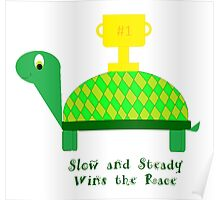 Slow and Steady Wins the Race-Turtle Poster
