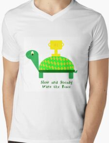 Slow and Steady Wins the Race-Turtle Mens V-Neck T-Shirt