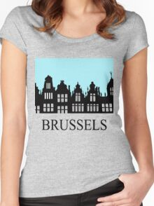 Brussels Grand Place / Grote Markt Women's Fitted Scoop T-Shirt