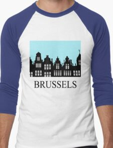 Brussels Grand Place / Grote Markt Men's Baseball ¾ T-Shirt