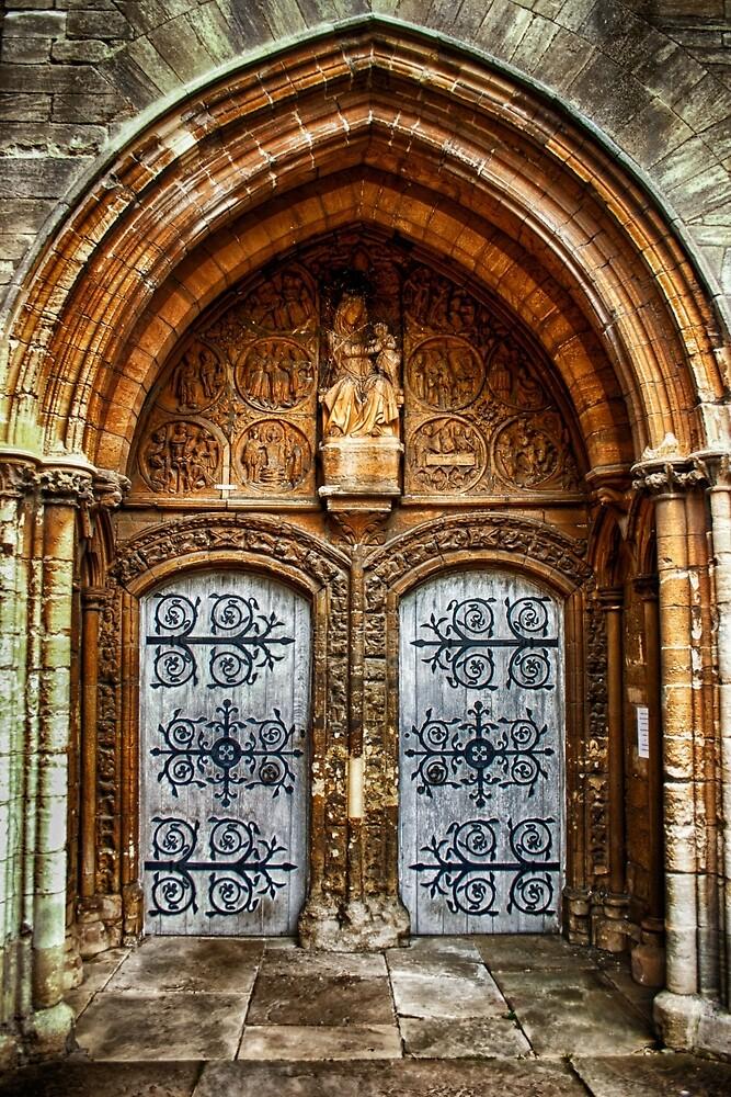 St Marys Church West Porch Door by Vicki Field