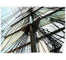 Tall Ship Mast And Sails Poster