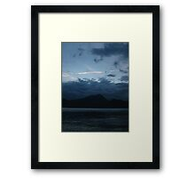 Blue Sunset Framed Print