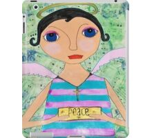 Peace Angel on Hymnal pages whimsical mixed media folk art iPad Case/Skin