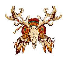 Vector tribal decorative totem  by Maryna  Rudzko