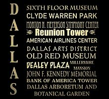 Dallas Famous Landmarks by Patricia Lintner