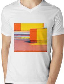 Blocks  Mens V-Neck T-Shirt