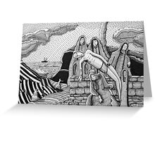 228 - GAUGUIN'S 'THE CALVARY' - DAVE EDWARDS - PIGMA MICRON PENS - 2010 Greeting Card