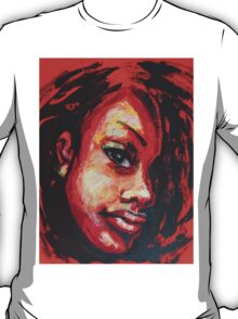 Afro - Portrait Of A Woman T-Shirt