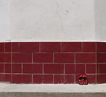 Red slippers by Marjolein Katsma