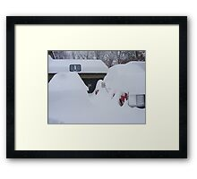 How Much Snow? Framed Print