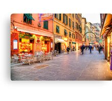 Shopping two Canvas Print