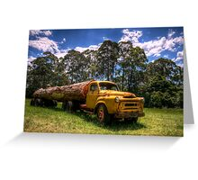 Those logging days are over Greeting Card