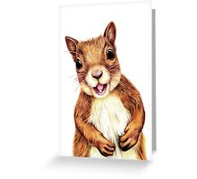 Seamus the squirrel says hello Greeting Card