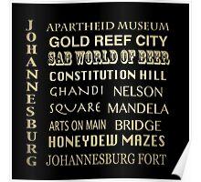 Johannesburg Famous Landmarks Poster