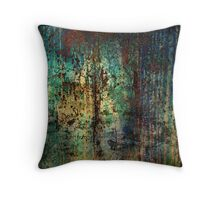 Turquoise & Red II Throw Pillow