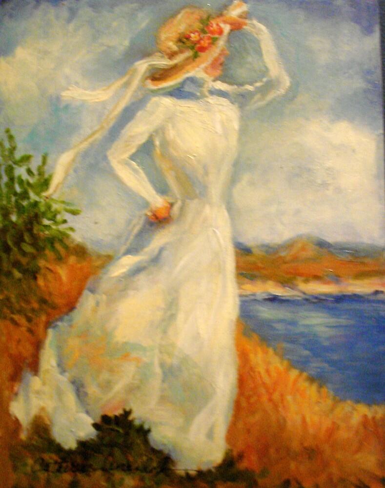 Lady on a Cliff #2 by Cathy Amendola