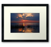 Another Sunset on the Lake Framed Print