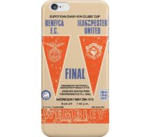 Manchester United vs Benfica - Retro Match Programme iPhone Case/Skin