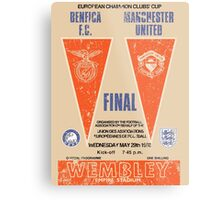 Manchester United vs Benfica - Retro Match Programme Metal Print