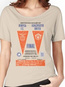 Manchester United vs Benfica - Retro Match Programme Women's Relaxed Fit T-Shirt