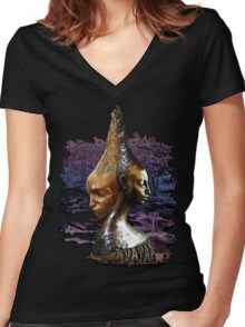 AVATAR T-Shirts Women's Fitted V-Neck T-Shirt