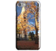 UMass Chapel in the fall iPhone Case/Skin