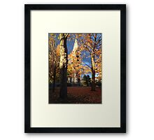 UMass Chapel in the fall Framed Print