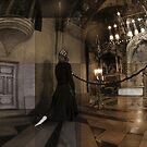 Woman Praying at the Chapel Of Crucifixion. by Crispin  Gardner IPA