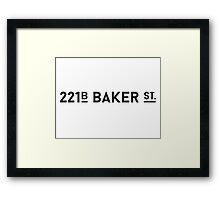 Sherlock • 221B Baker St. Framed Print
