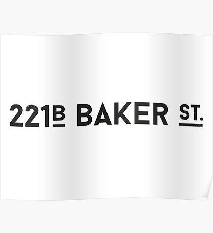 Sherlock • 221B Baker St. Poster