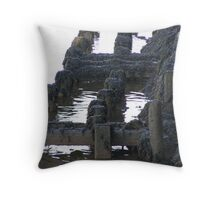 Maratime History Rotting Away Throw Pillow