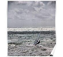 lone windsurfer Poster