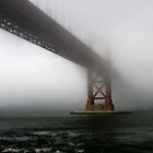 Golden Gate in Fog - San Francisco by Julien Delebecque